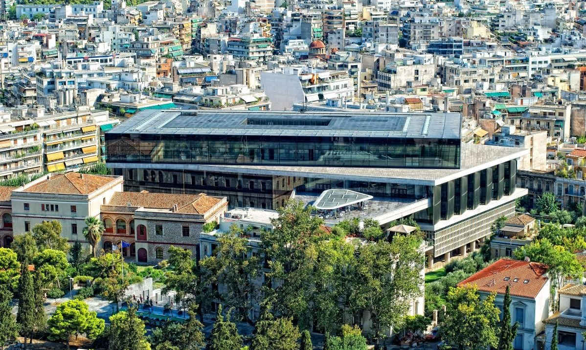 The modern Acropolis Museum