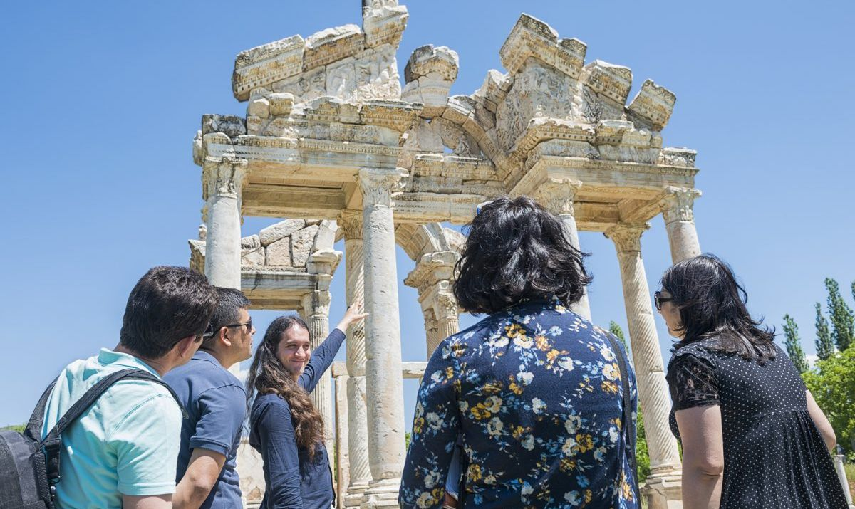 The Tetrapylon, the gateway into Aphrodisias