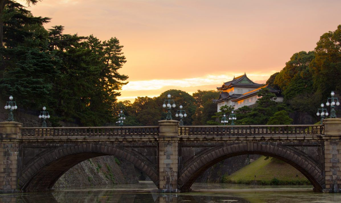 The moat of the Imperial Palace at Tokyo