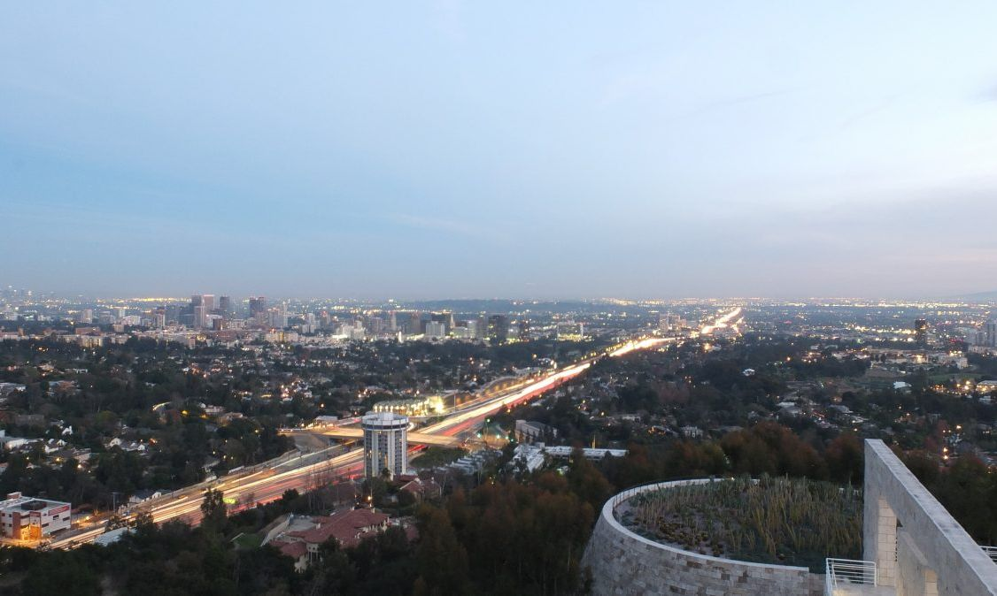 The views from the terraces of the Getty Center in Brentwood are unparalleled.