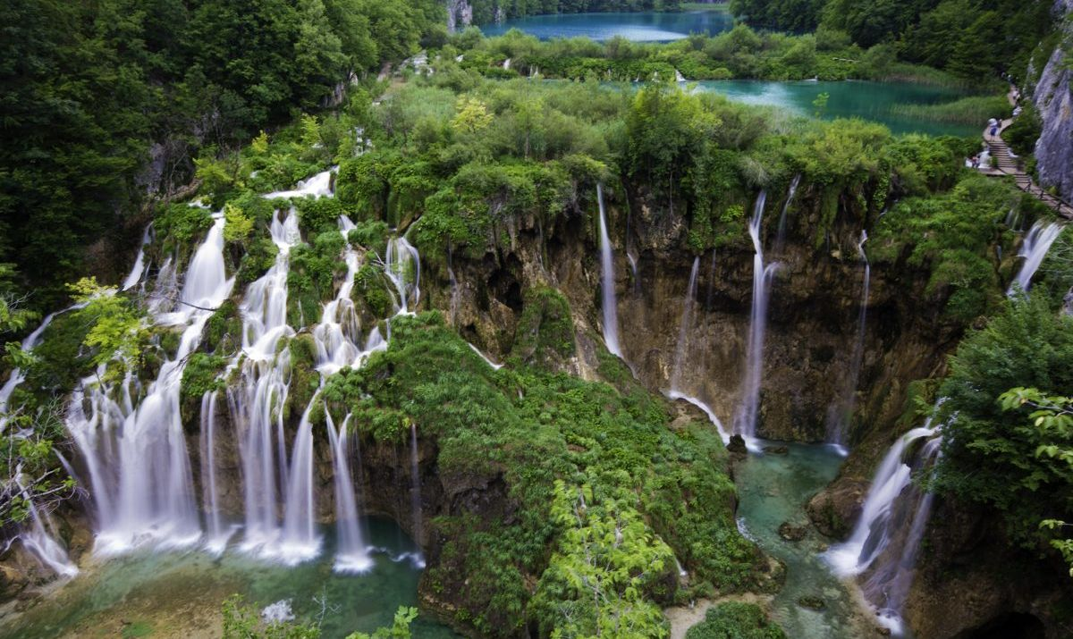 The Great Waterfall of Plitvice Lakes