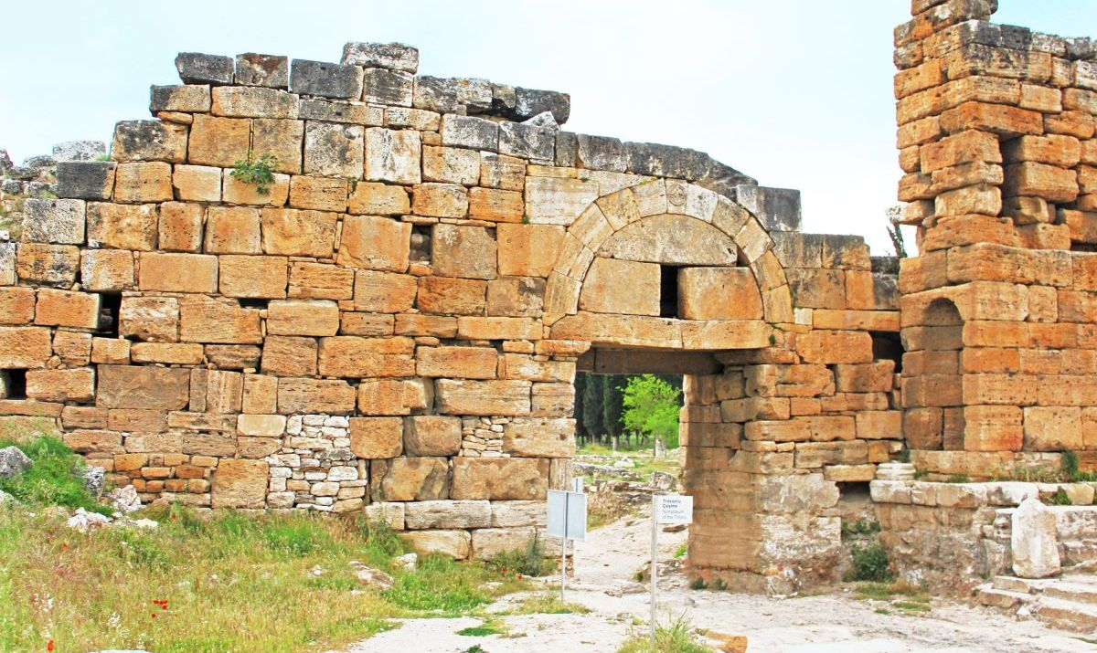 The old Byzantine Northern Gate of Hierapolis