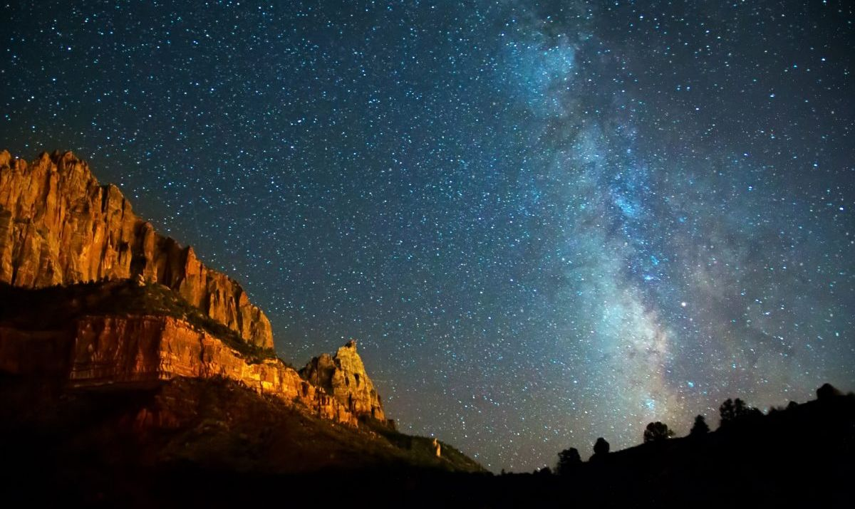 The dark skies of Zion National Park are perfect for stargazing.