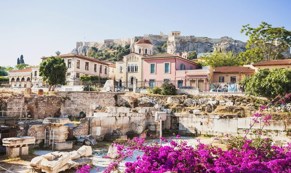 The ancient Greek Plaka District