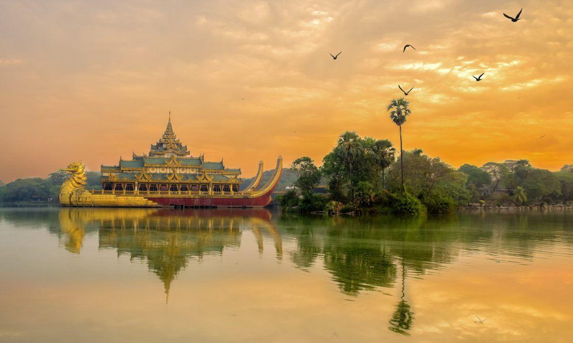 Kandawgyi Park in Myanmar