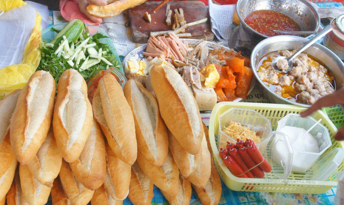 Vietnamese bread sandwiches Asian food