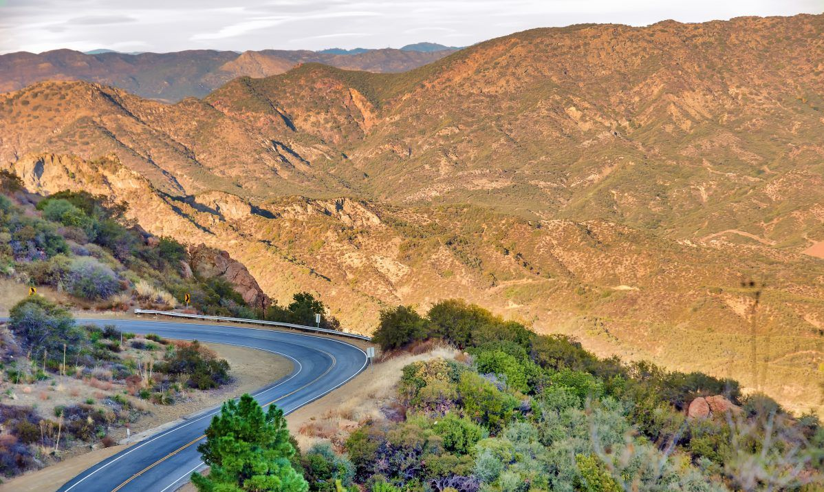 Mulholland Highway is a popular drive for auto and motorcycle enthusiasts.