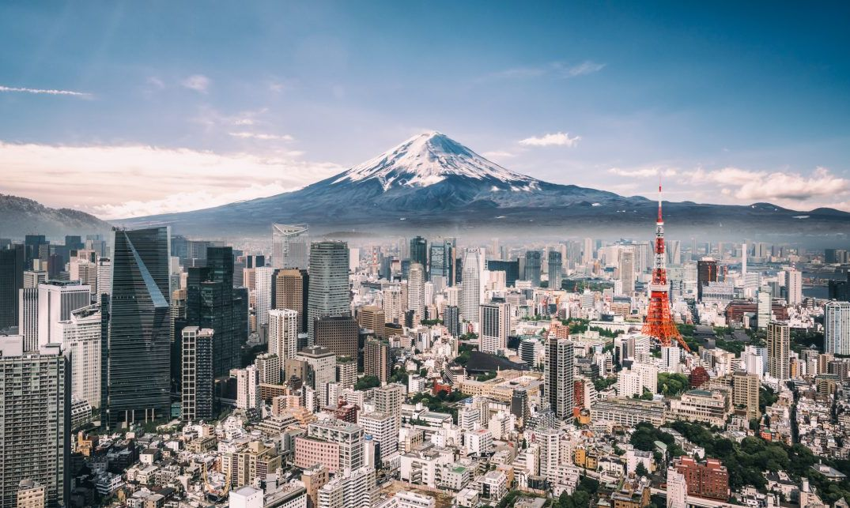 Mt. Fuji and the Tokyo skyline