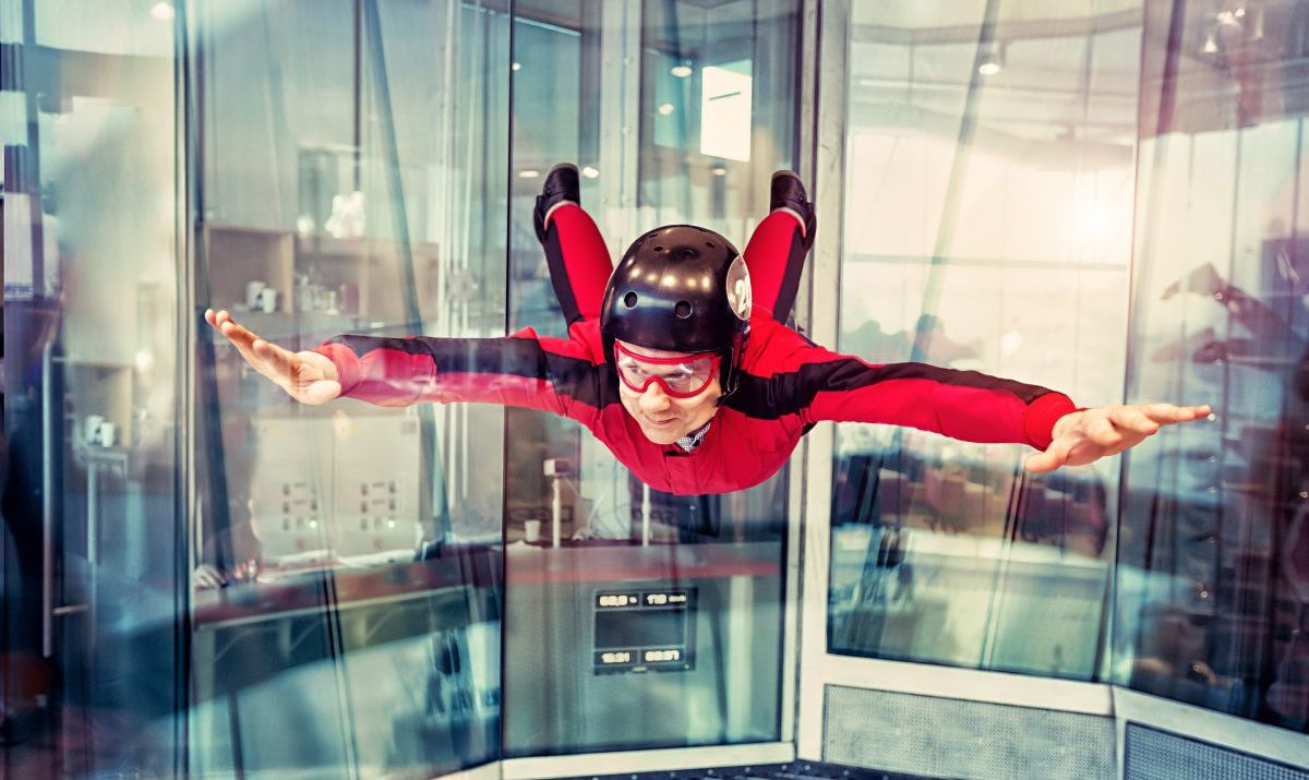 wind tunnel body flying