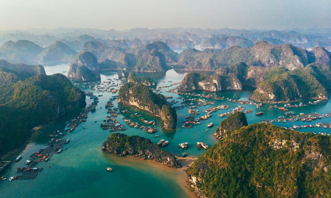 The iconic limestones of Ha Long Bay