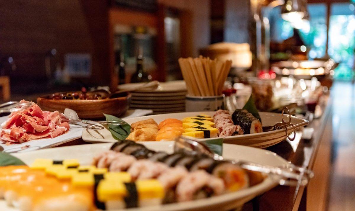 Asian sushi buffet.