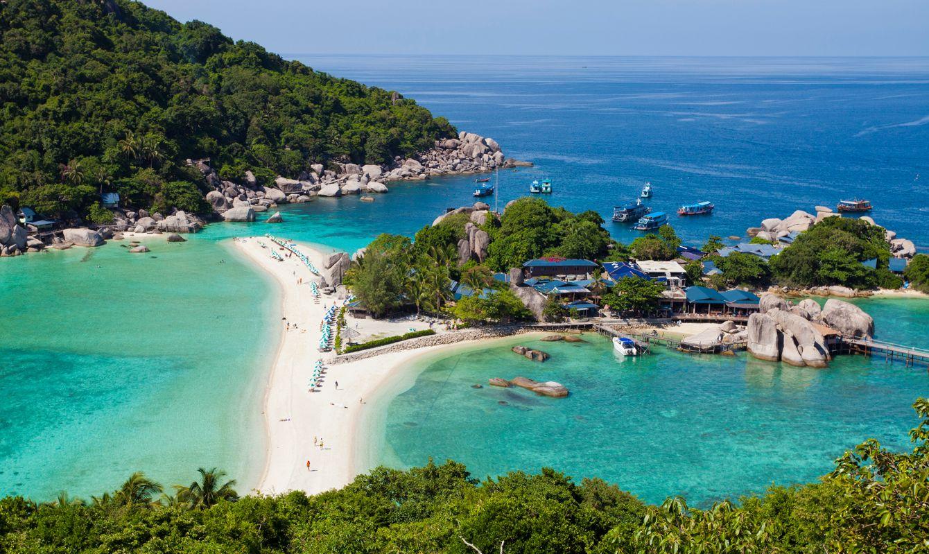 View of Nang Yuan Island at Koh Tao, Thailand