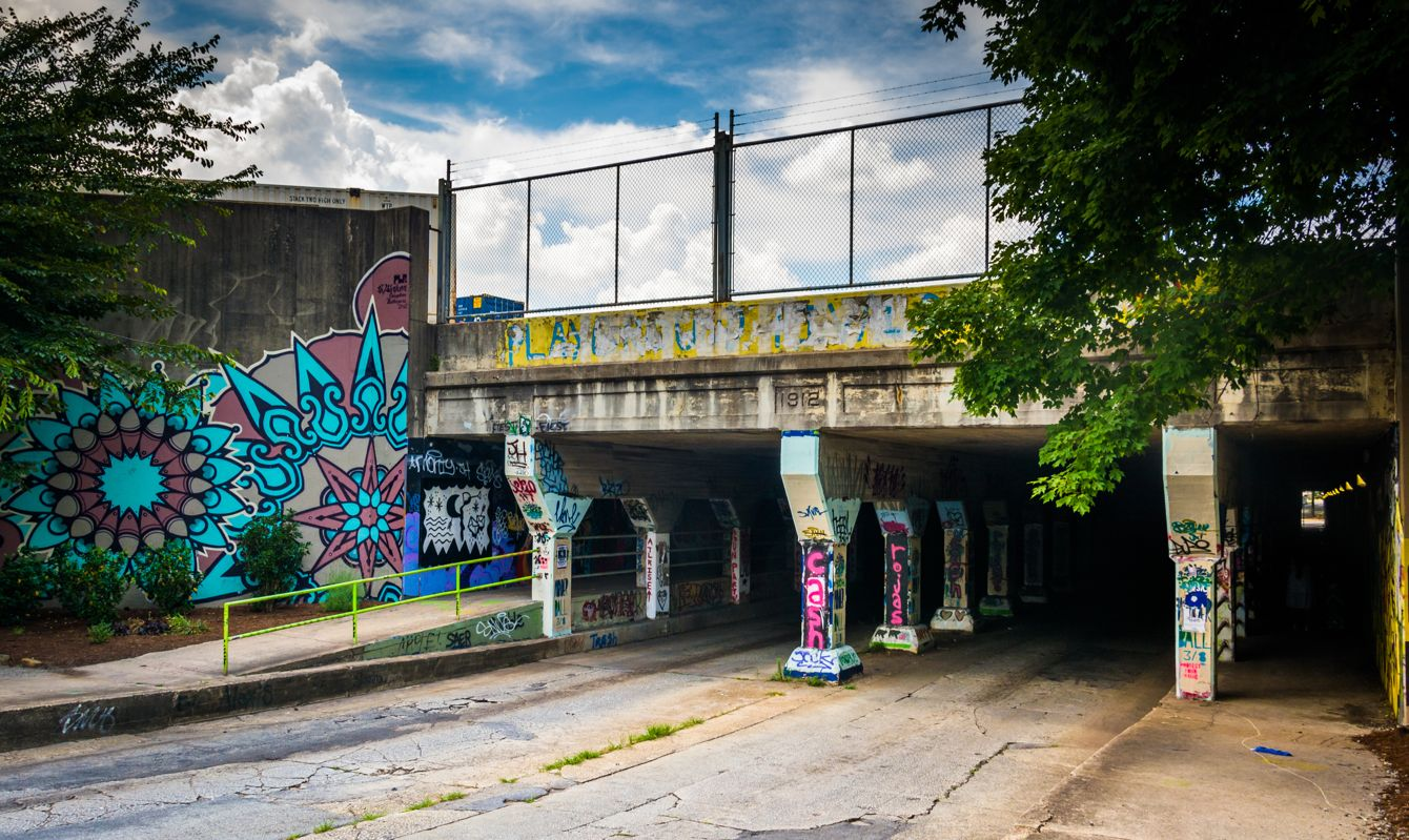 The entrance to Krog Street Tunnel in Atlanta, Georgia.