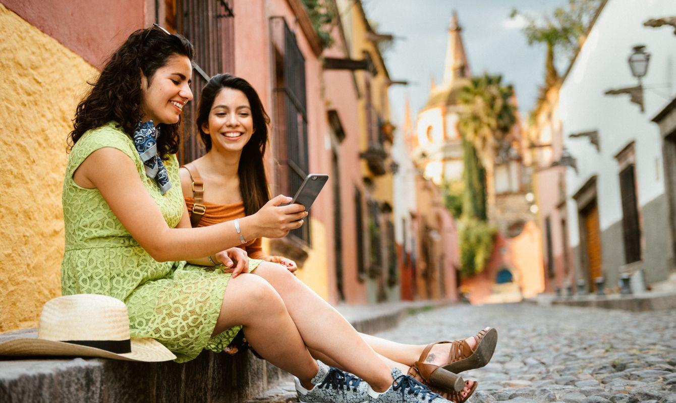 Grilfriends visiting San Miguel de Allende in Guanajuato State, Mexico.
