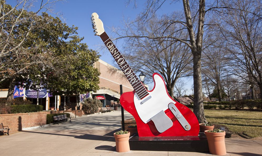 The Grand Ole Opry is a landmark in Nashville, Tennessee