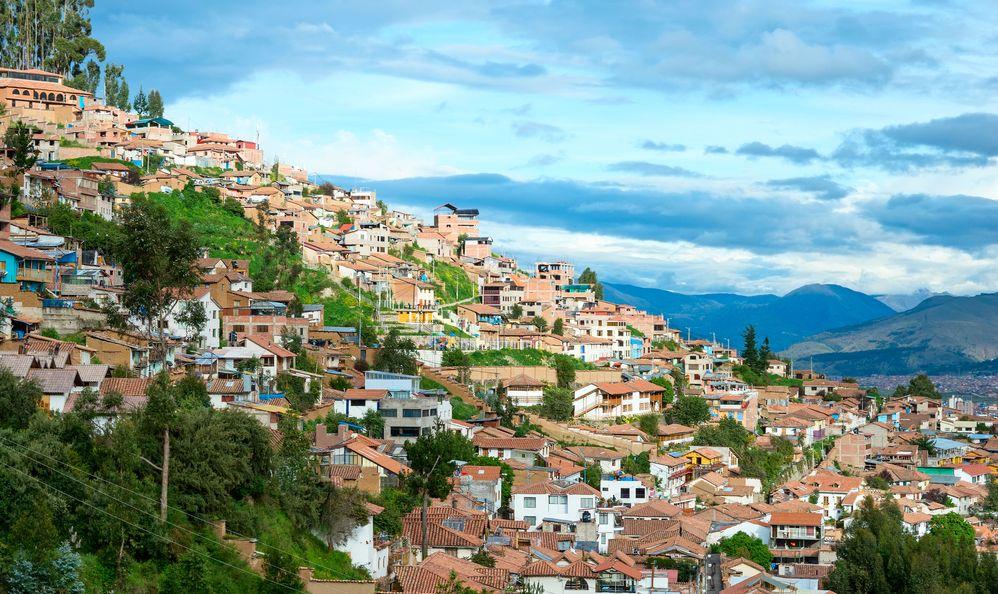 Cityscape of Cusco in Peru