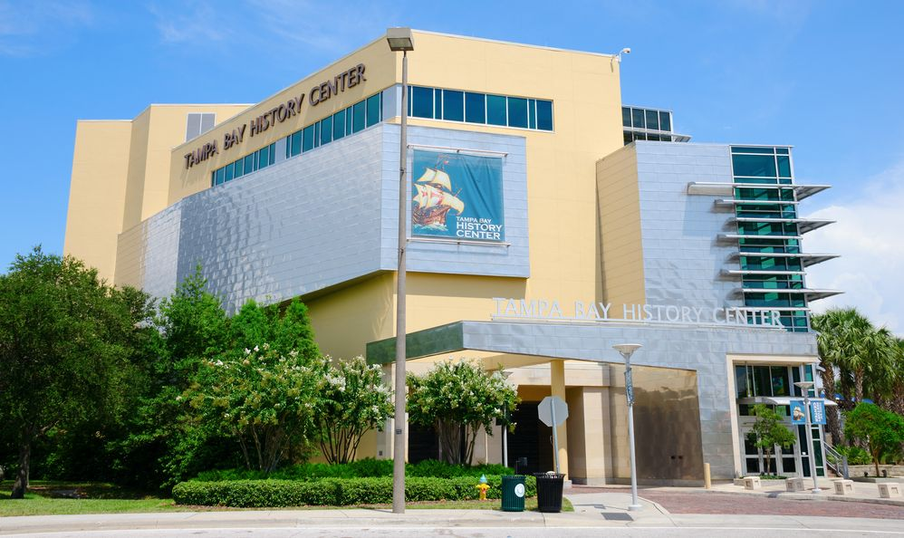 Tampa Bay History Center building in Florida which is a museum filled with historic artifacts and documents.