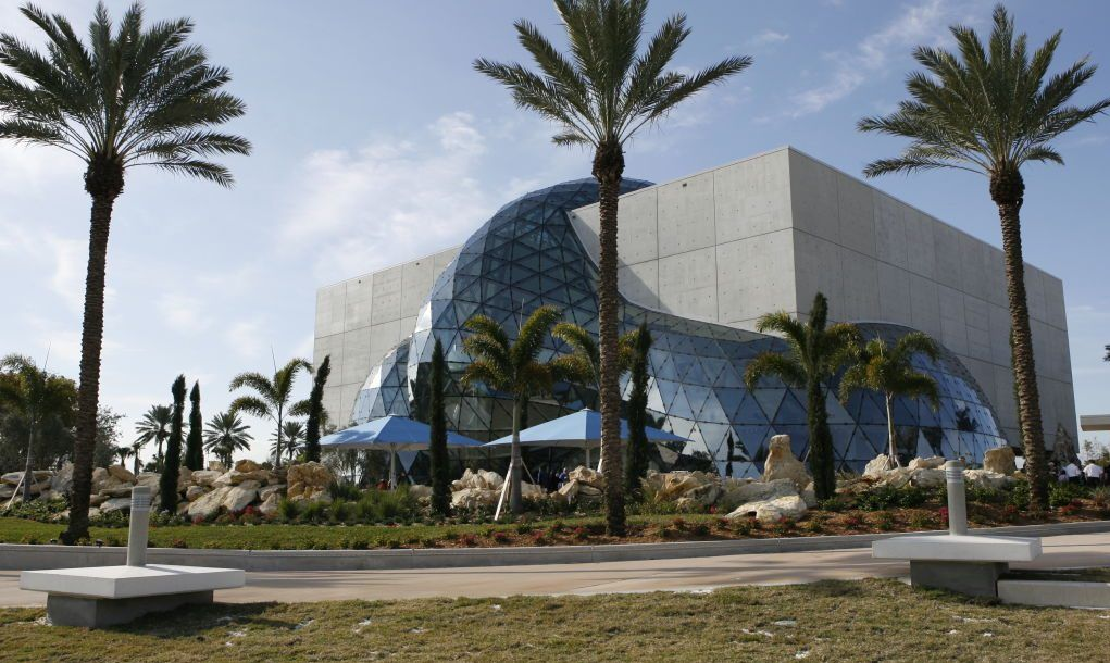 Exterior of Dali Museum in St. Petersburg, Florida.