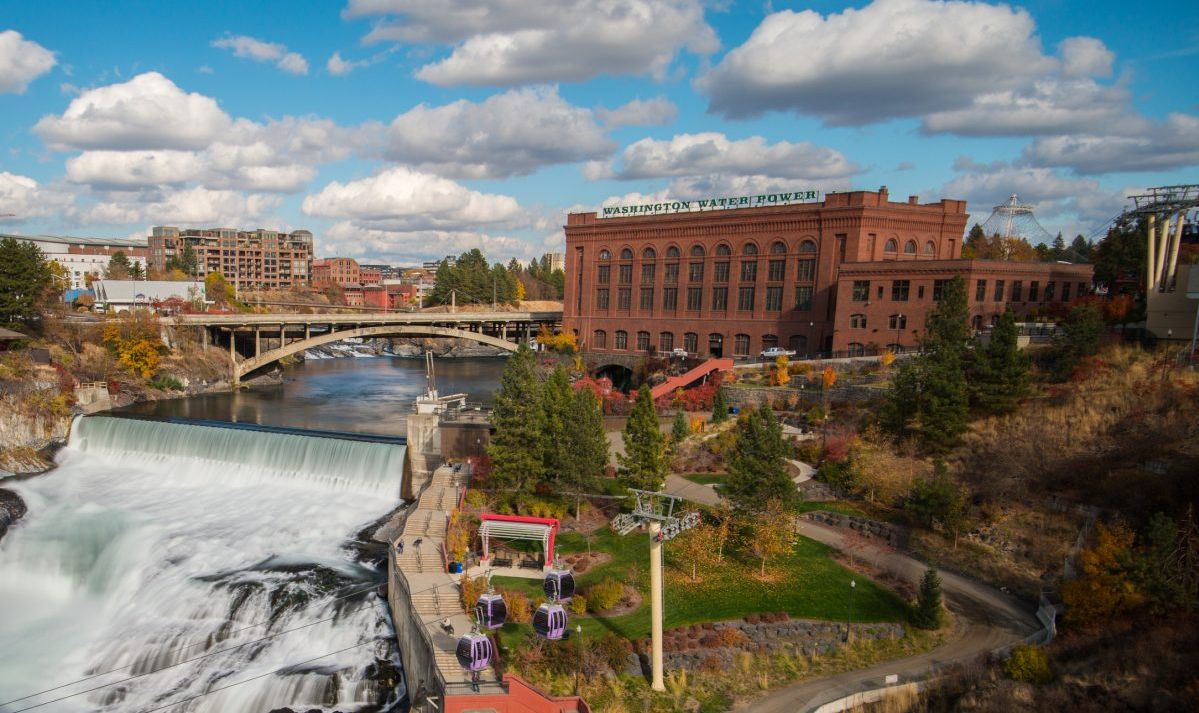 Spokane Falls is the highlight of Riverfront Park