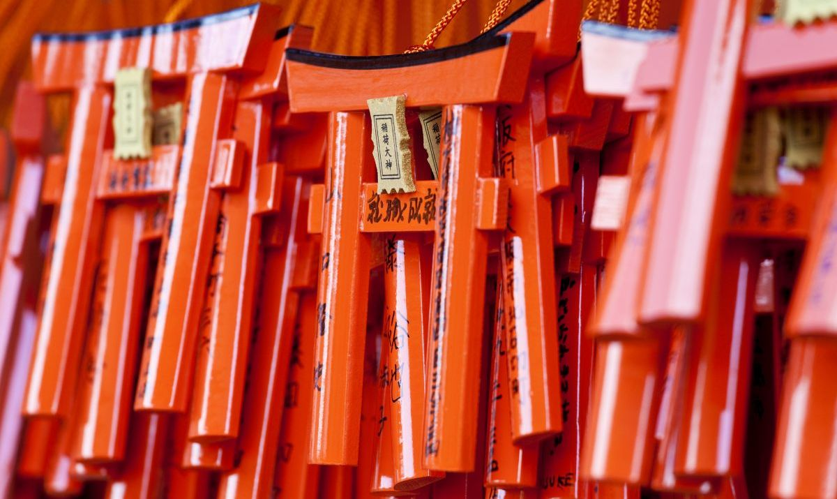 Souvenir tori gates from Fushimi Inari-taisha in Kyoto.