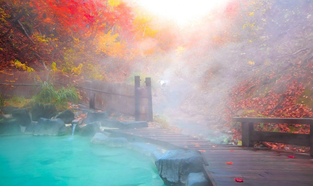 Therapeutic hot springs on Mount Kurama.