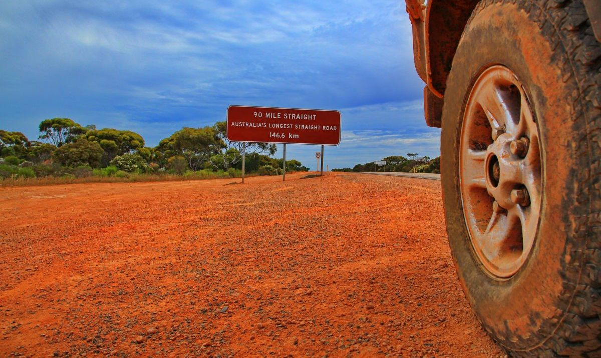 Australia's straightest road