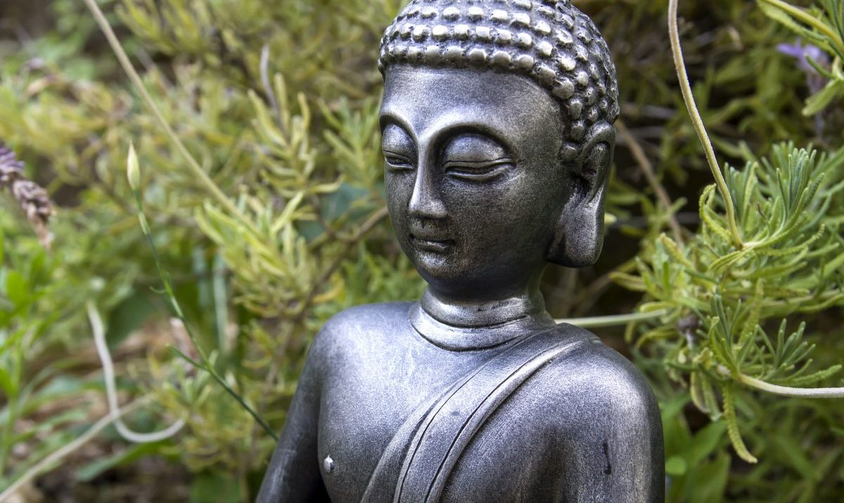 The meditation gardens at the Tibetan Museum in Staten Island are a peaceful retreat.