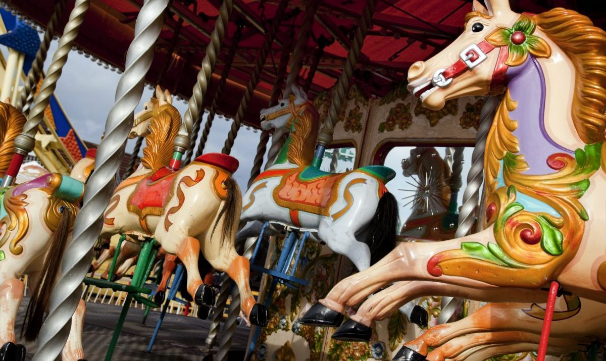 Antique carousel in Oak Bluffs, Martha's Vineyard.