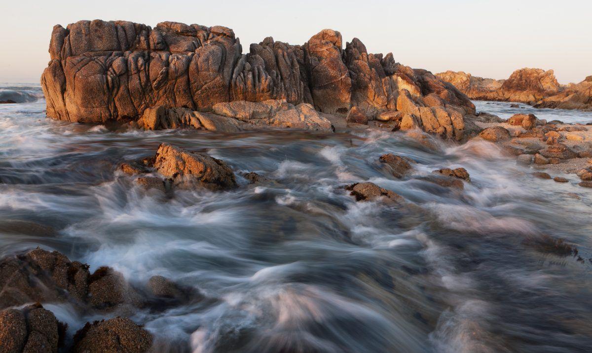 The rugged coastline near Monterey, California.