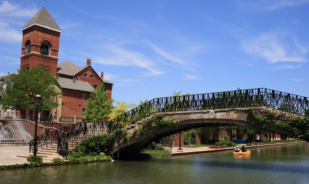 The Central Canal is a peaceful respite from the activity of Downtown Indianapolis.