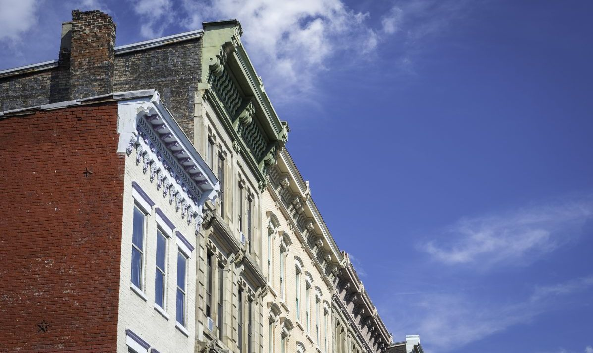 European-style buildings Over-The-Rhine Neighbourhood Cincinnati