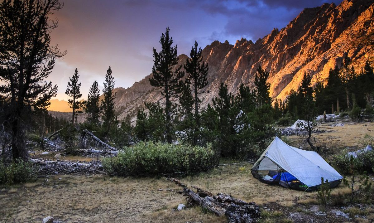 The John Muir Trail navigates through the beautiful Sierra Nevada wilderness.