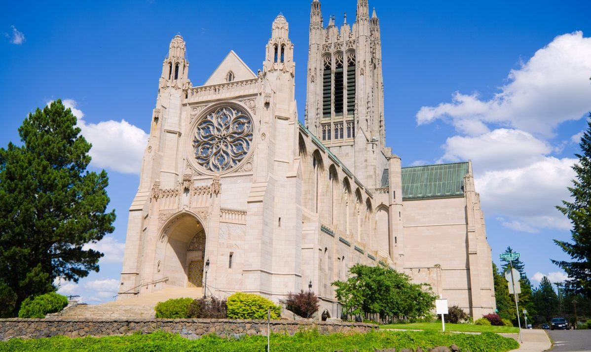St. John the Evangelical is one of few Neo-Gothic Revival structures in the U.S.