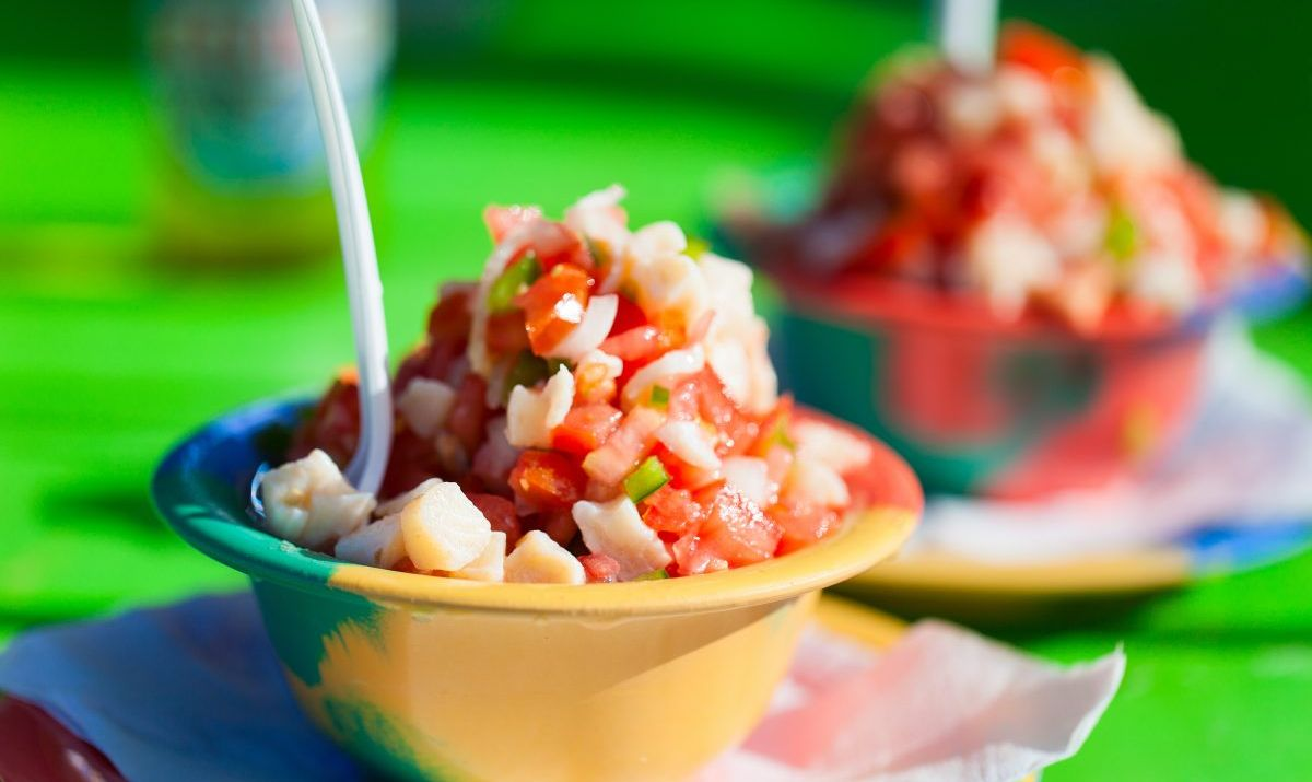 Refreshing conch salad is a Nassau specialty.