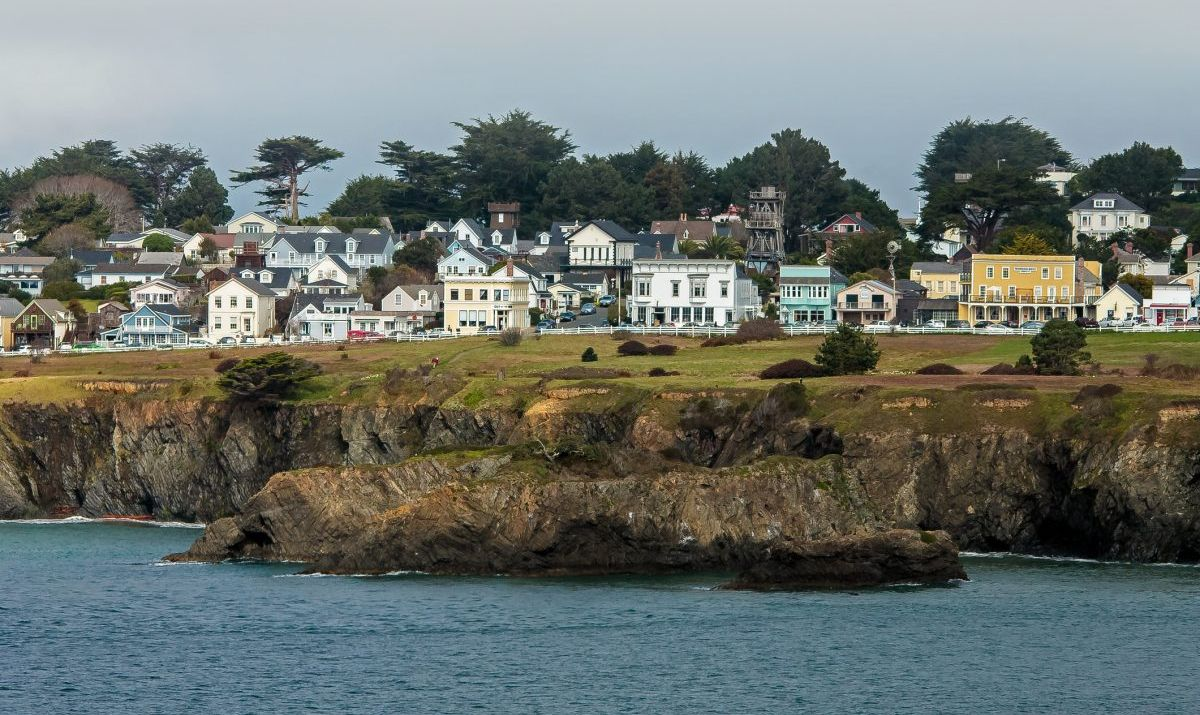 The beach town of Mendocino is the perfect choice for a quiet getaway.
