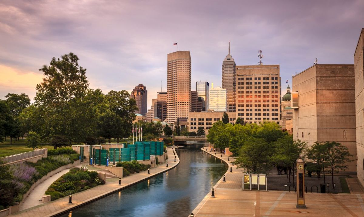 The Indianapolis Cultural Trail Winds along the Central Canal.