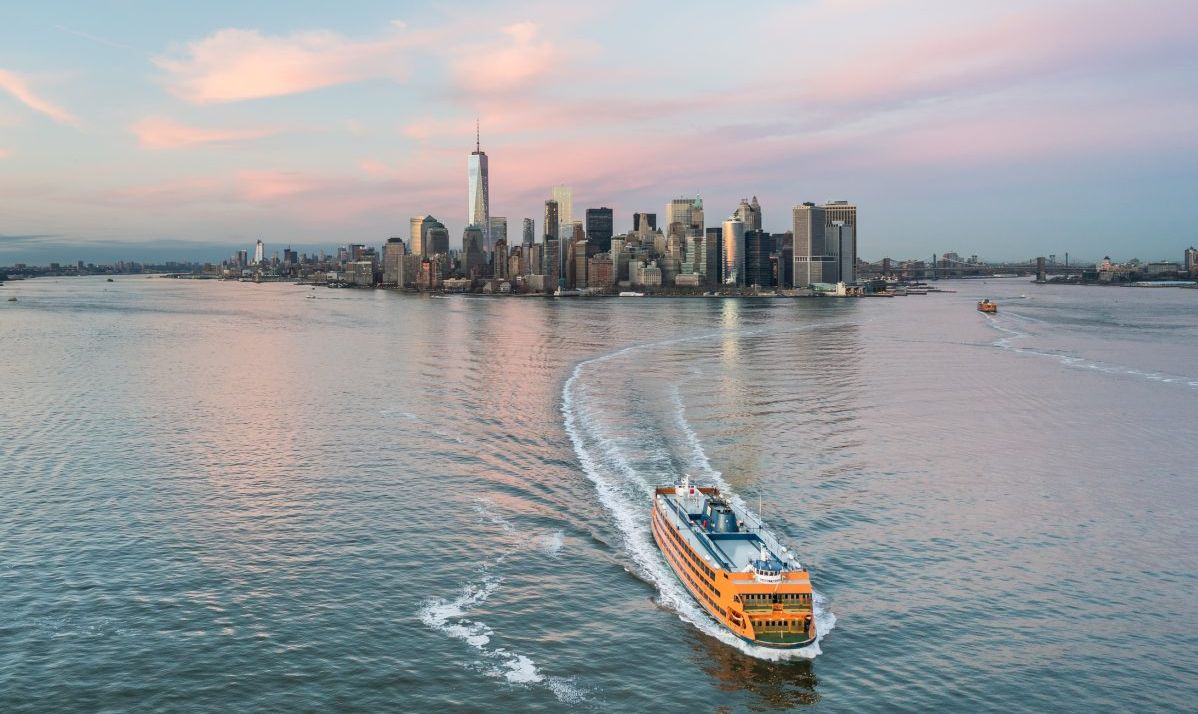 The Staten Island Ferry runs 24 hours a day free of charge.