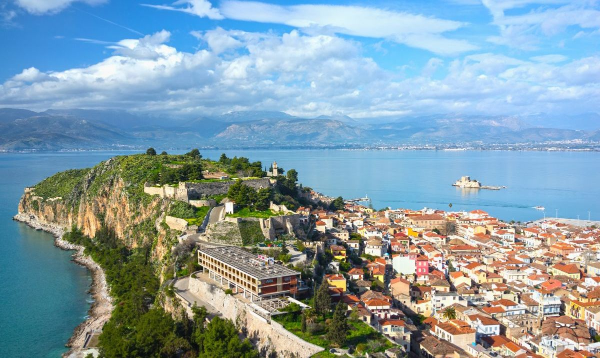 The old town of Nafplio in the Peloponnese, Greece.