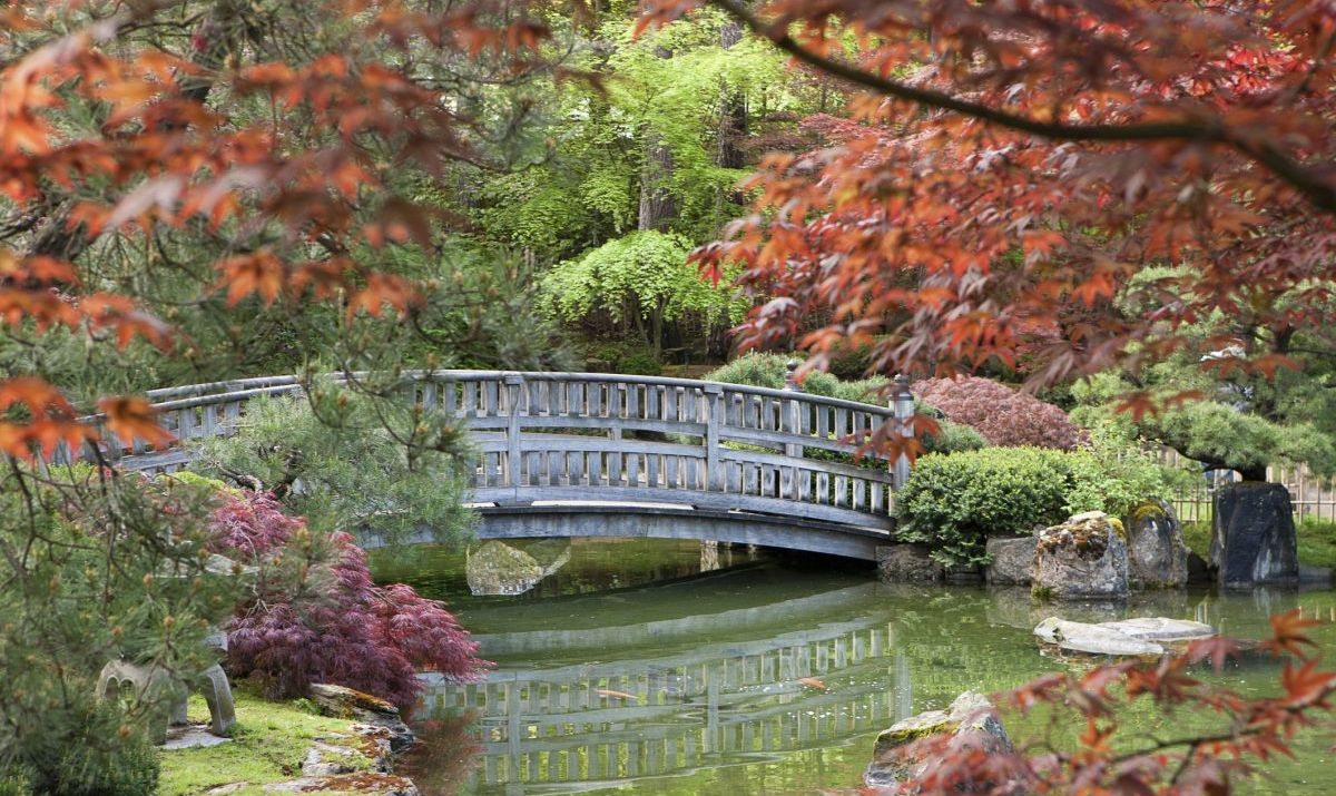 The Japanese Gardens at Manito Park are beautiful and serene.
