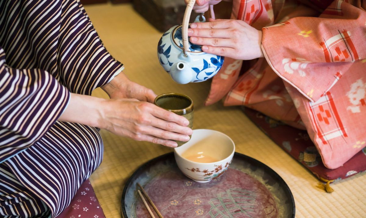 Traditional elements of the tea ceremony are unchanged over centuries.