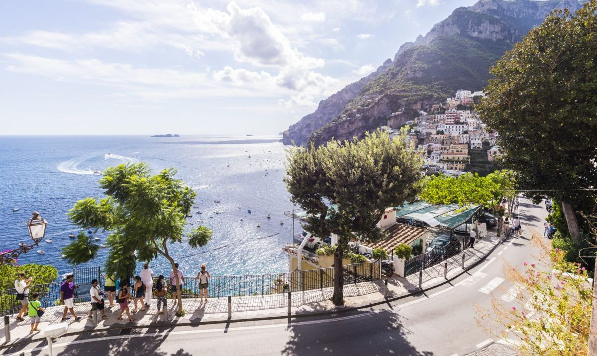 Beautiful Positano is just one highlight of an Amalfi Coast road trip.