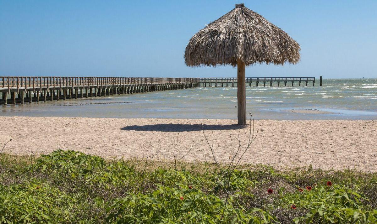 rockport beach texas umbrella