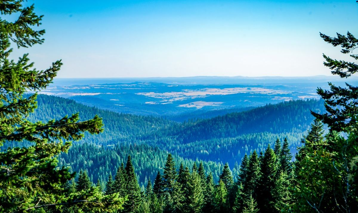 The view from Mt. Spokane stretches for miles into Idaho and Canada.