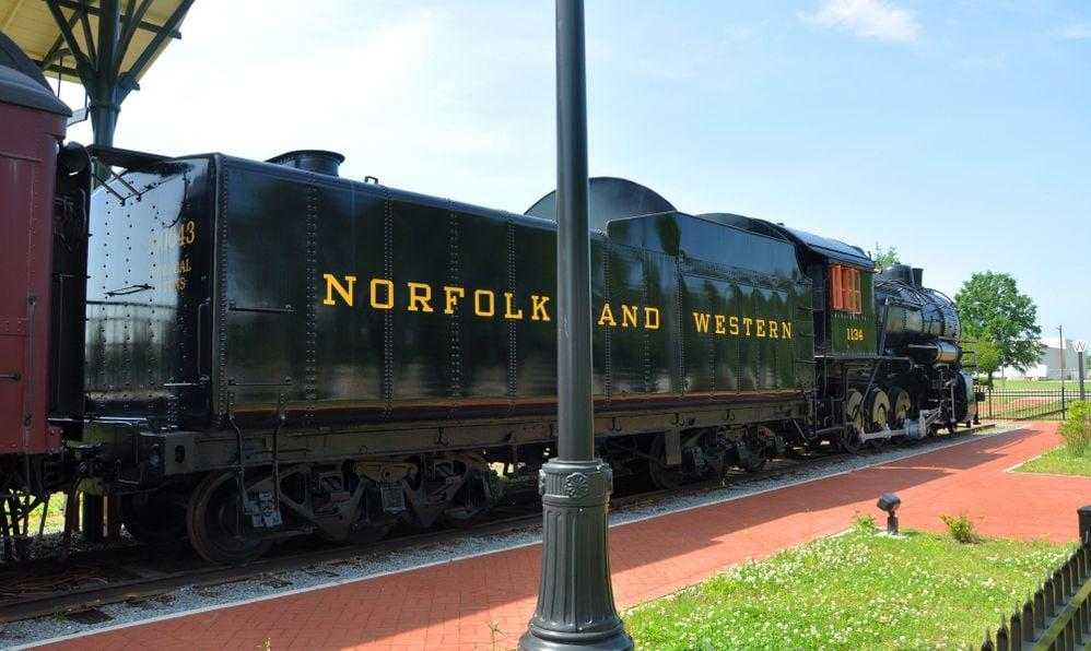 Railroad Museum of Virginia in Norfold, VA, USA.