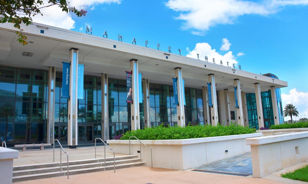 Mahaffey Theater exterior, a venue for music, comedy, theater and community events.