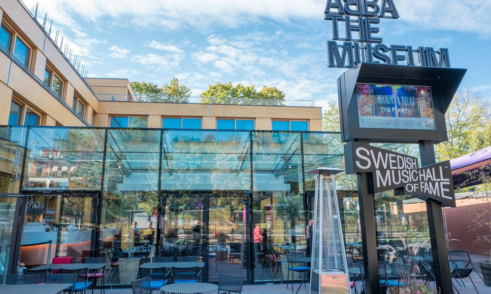 Exterior of ABBATheMuseum on September 27, 2016 in Stockholm. The ABBA museum has become of Stockholms major tourist attractions.