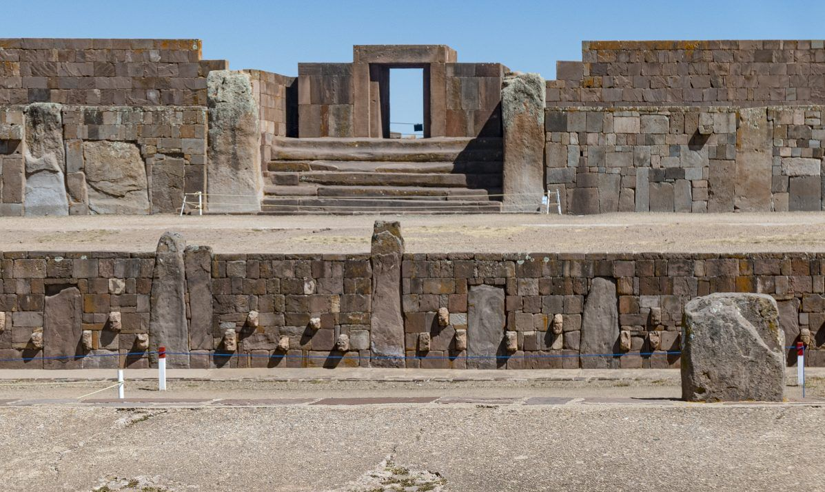 The historic ruins at Tiahuanaco are in Bolivia near Lake Titicaca