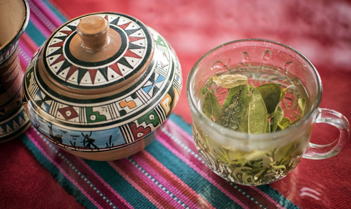 Coca leaf tea is a common remedy for altitude sickness in Peru