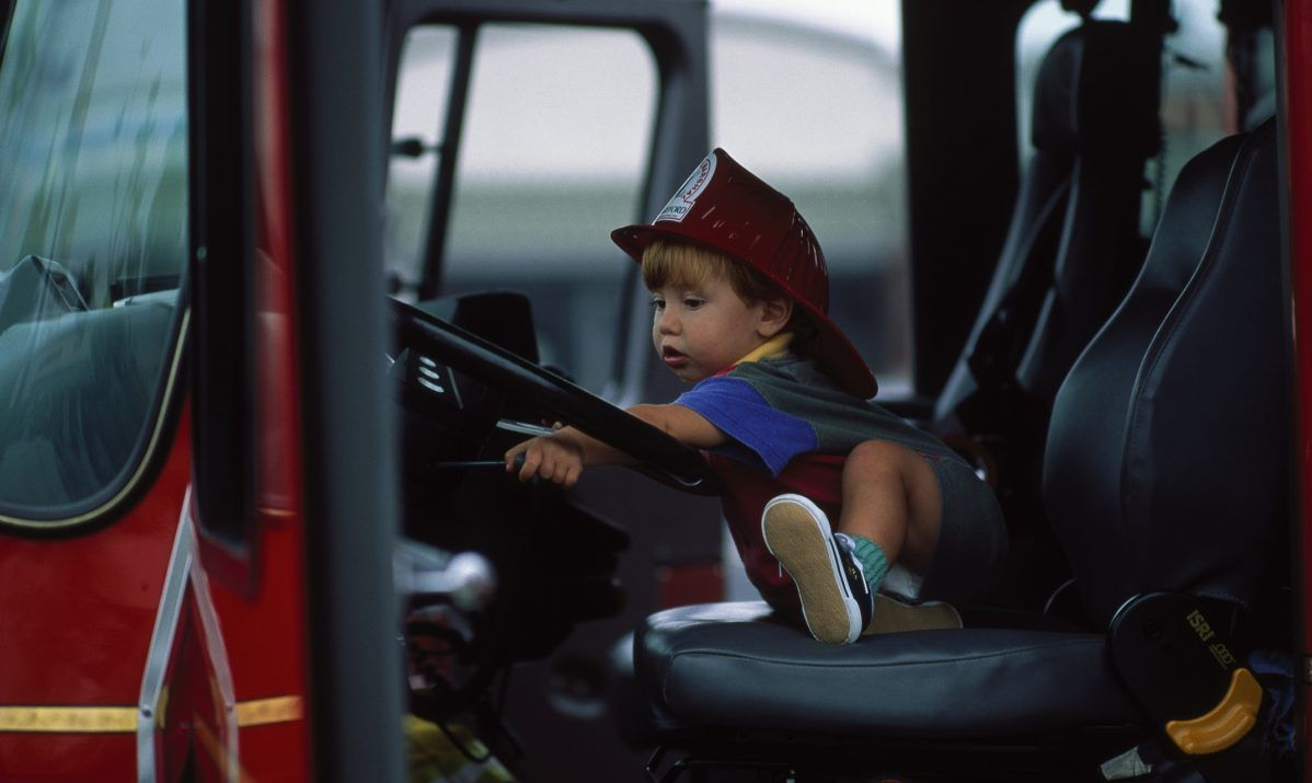 child firetruck toddler