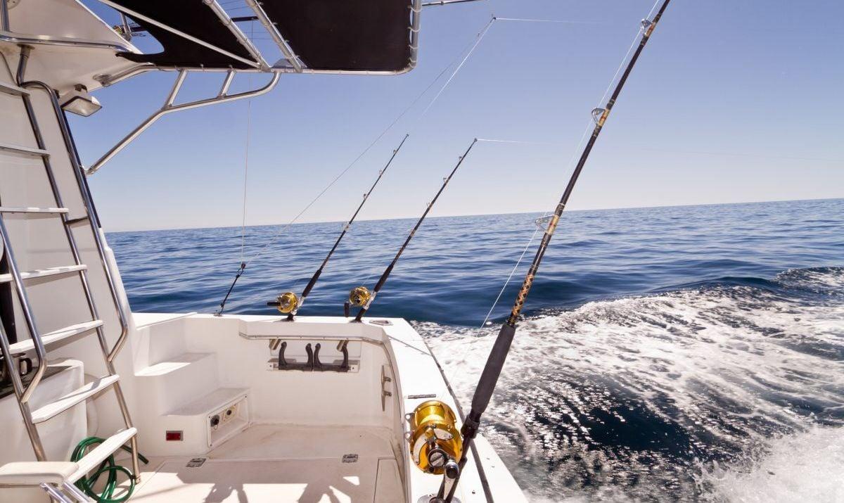 Sea fishing boat on the ocean